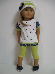 American Girl Doll Bright and Colorful by 123MULBERRYSTREET