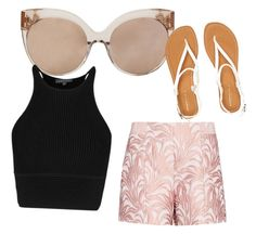 """""""Untitled #508"""" by heden-fun ❤ liked on Polyvore featuring Linda Farrow, Exclusive for Intermix and Aéropostale"""