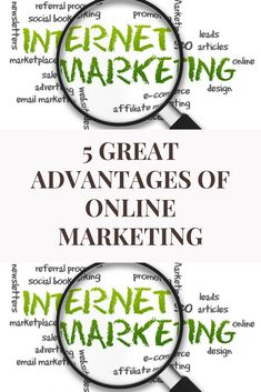 5 great advantages of online marketing. Internet (online) marketing is undoubtedly the most crucial element of businesses. Since it makes it easier than ever before to connect with the current as well as the prospective customers.