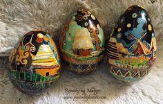 Turkey Egg Pysanky by www.pysankybasics.com