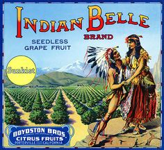 Fruit crate label art: 1930s