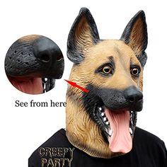 CreepyParty Novelty Halloween Costume Party Latex Dogl Head Mask (German Shepherd) #germanshepherddogs  sc 1 st  Pinterest & Cool German Shepherd Costumes u0026 Masks For Humans: Adults u0026 Kids ...