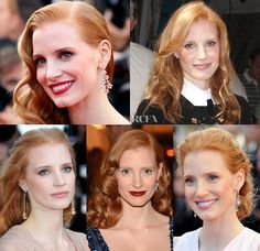 Beauty's New Face: Jessica Chastain - Red Carpet Fashion Awards Actress Jessica, Jessica Chastain, New Face, Red Carpet Fashion, Braid Styles, Most Beautiful Women, Get The Look, Red Hair, Catwalk