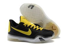 2015 new Nikes Zoom Kobe X (10) men basketball shoes black yellow