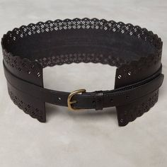 "Anthropologie Black Anouska Corset Belt The Anouska Corset Belt by Anthropologie. In Black. Made of Leather, Stretch Cotton & Metal. Size Small (adjustable).  28"" Long. NWOT. No flaws. Anthropologie Accessories Belts"