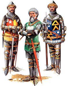 Battle of Agincourt, 25 October 1415 • Richard de Vere, Earl of Oxford • Sir Thomas Erpingham, KG • Sir Edmund de Thorpe