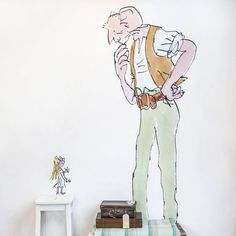 quentin blake 'the bfg' wall sticker by oakdene designs | notonthehighstreet.com