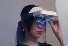 london-based designer eun kyung shin's latest project, hyperface, is an artificial intelligence gadget that displays human emotion on an electronic mask.