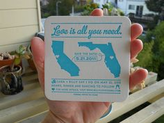 Save the Date coasters...super cute and pretty cheap!