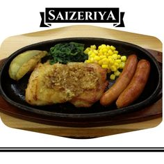 Saizeriya's Garlic Chicken with Sausages