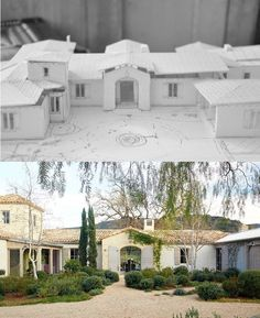 Before & After: Patina Farm in Ojai Spanish Style Homes, Spanish House, Exterior Design, Interior And Exterior, Rammed Earth Homes, Patina Style, Patina Farm, Farm Plans, French Country Decorating