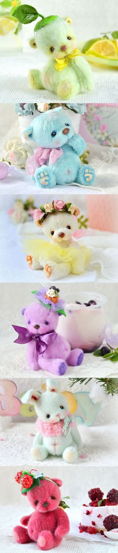 Cute teddy bears by Tanya Golub