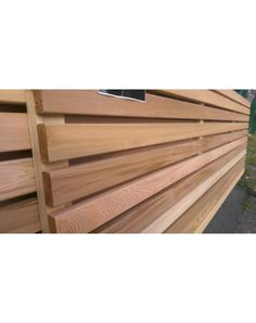 Our western red cedar fence panels are available in a variety of styles, sizes & bespoke finishes. Contact us today for your free cedar fencing quote. Back Gardens, Small Gardens, Slatted Fence Panels, Sawn Timber, Horizontal Fence, Cedar Fence, Western Red Cedar, Garden Design, Furniture Design