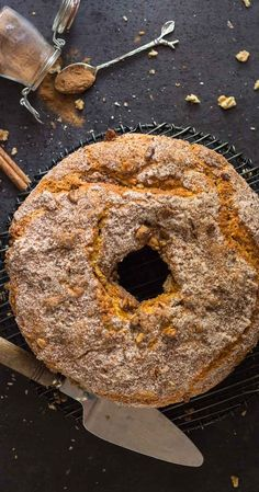Cinnamon Walnut Coffee Cake one of the best and so easy homemeade cinnamon coffee cakes, the perfect made from scratch anytime desserts. #cake #cinnamon #walnuts
