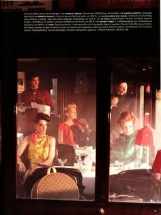 """""""Mystery Train"""": On the Orient Express by Phil Poynter, Styled by Giovanna Battista for Vogue Germany"""