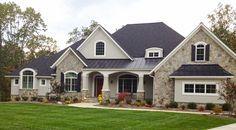 craftsman style homes exterior side load garage -