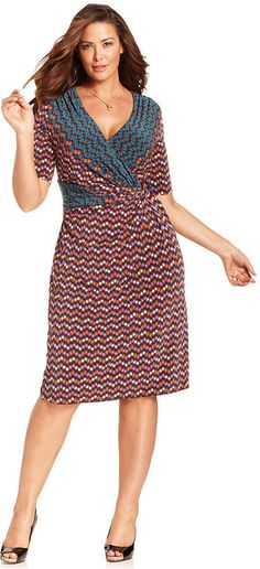 Plus Size Dress. The print is flattering no matter what your shape.