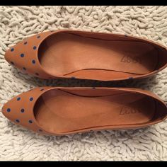 Madewell, Polka Dot ballet flats, size 6.5 Gently worn, in good condition. Leather uppers and lining. Madewell Shoes Flats & Loafers