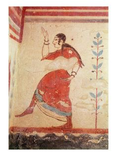 Tomb of the Acrobats, Detail of a Dancer Etruscan