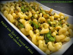 Golosando...serenamente!: Pasta con fiori di zucca alla romana