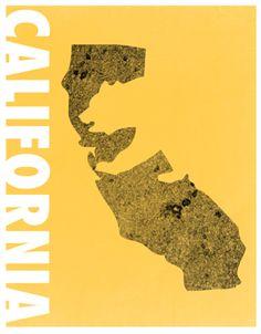 California Bear Poster #design #travel