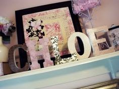 I'm going to update L's baby letters for her big girl room...