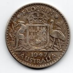1947 #australia #commonwealth of silver one florin two shillings coin #george vi#,  View more on the LINK: http://www.zeppy.io/product/gb/2/122353954915/
