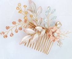 Hey, I found this really awesome Etsy listing at https://www.etsy.com/listing/588510336/gold-bridal-hair-accessory-flower-bridal
