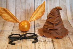 Harry Potter Fondant Cake Topper Cake Decoration Golden Snitch Sorting Hat Harry's Glasses