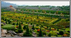 The French Garden in Nong Nooch, a photo from Chon Buri, East ...