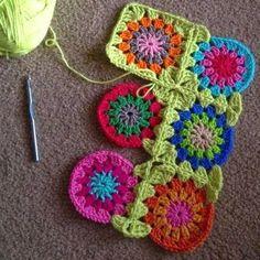 Irish crochet &: Бабушкин квадрат