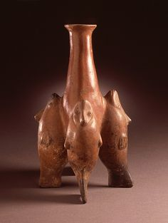 Vessel with Four Fish Mexico, Colima, 200 B.C. - A.D. 500 LACMA