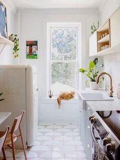 bright window in a rental kitchen