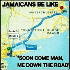 Jamaicans be like...They got it from their west African brothers and sisters. Lol