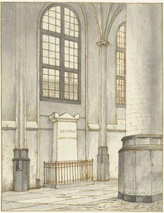 Gerrit Lamberts   Grafmonument van J.M. Kemper, in de Pieterskerk te Leiden, Gerrit Lamberts, 1835  