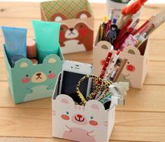 ZOO-ZOO-Paper-Pen-Case-kawaii-cartoon-Animal-pencil-holder-cute-accessory-box