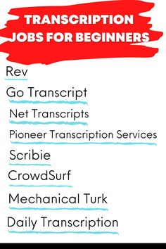 Transcription jobs from home for beginners that love writing. Make money writing with these freelance writing jobs. Online Writing Jobs, Freelance Writing Jobs, Business Checks, Business Tips, Blog Writing, Writing Tips, Transcription Jobs For Beginners, Easy Online Jobs, Creative Jobs