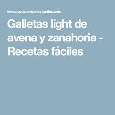 Galletas light de avena y zanahoria - Recetas fáciles