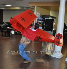 Cool Red Baron Cardboard Box Costume Idea... Coolest Halloween Costume Contest