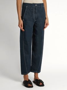 Lemaire Twisted straight-leg cropped jeans