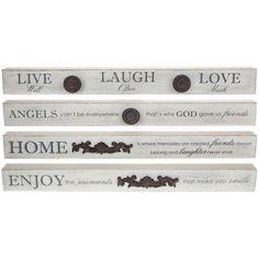 Live Laugh Love Angels Enjoy Home Word Ornament Wood Table Plaque Rustic  #homeheaven