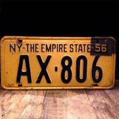 1956 New York vintage License plate