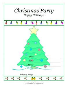 free printable christmas party flyers