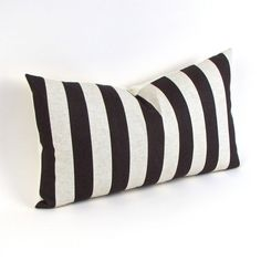 Canopy Stripe Chocolate Brown Pillow Cover 12 x 20 by MiCasaBella, $25.00