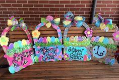 Easter Basket Door Hanger by AprilHowellDesigns on Etsy