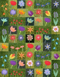 Wild Flowers - applique quilt pattern workshop