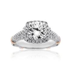 Reis-Nichols Jewelers : Verragio Diamond Engagement Ring : designed to hold 1 ct round center diamond