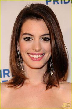 Corte de cabelo em camada, Anne Hathaway