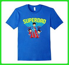 Mens Super Dad Shirt | A Daughter's First Love A Son's First Hero Large Royal Blue - Relatives and family shirts (*Amazon Partner-Link)