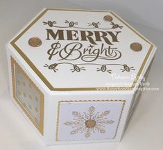 Festive Phrases Window Box BoiteNoel Papier ArtisanatsCartes